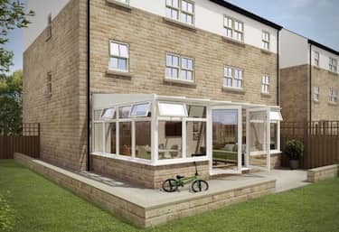 Lean-To Conservatory External 3D Visualisation