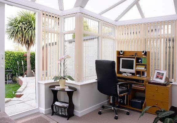Edwardian P Shape Conservatory, White, Dwarf Wall