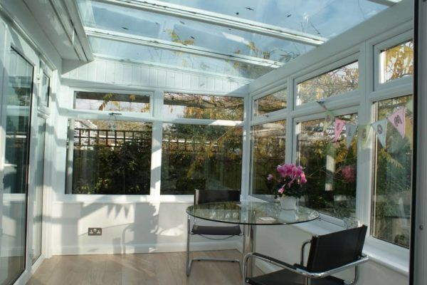 Lean To Conservatory, White, Dwarf Wall