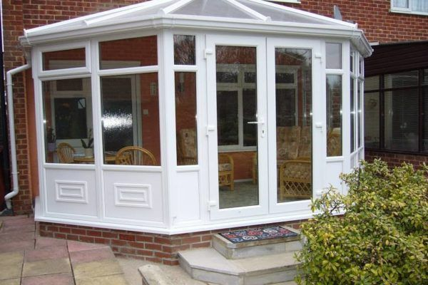 Victorian Conservatory, White, Full Height Moulded Panels