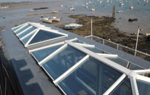 double lantern roof