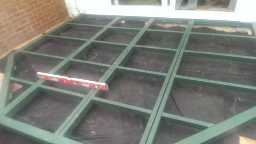 Conservatory Base Frame Construction