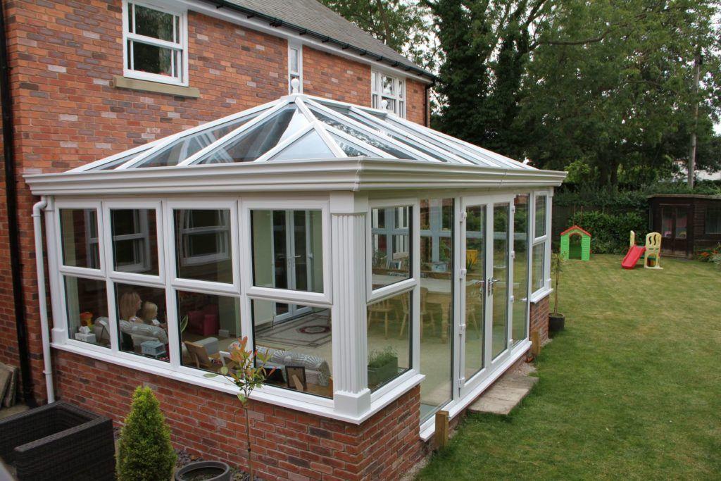 Hipped back Edwardian style orangery from Conservatory Land