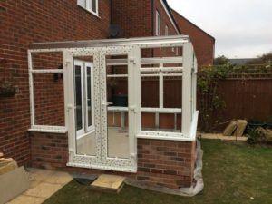 DIY Edwardian style conservatory with dwarf wall