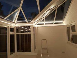 P-Shaped Edwardian Conservatory LED Lighting