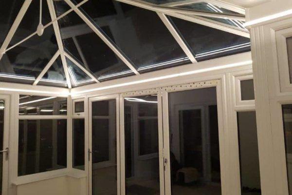 P-Shaped Edwardian Conservatory lighting LED strip - Aug 2017 case study
