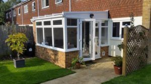 DIY Lean-to conservatory with french doors - Mr Hard