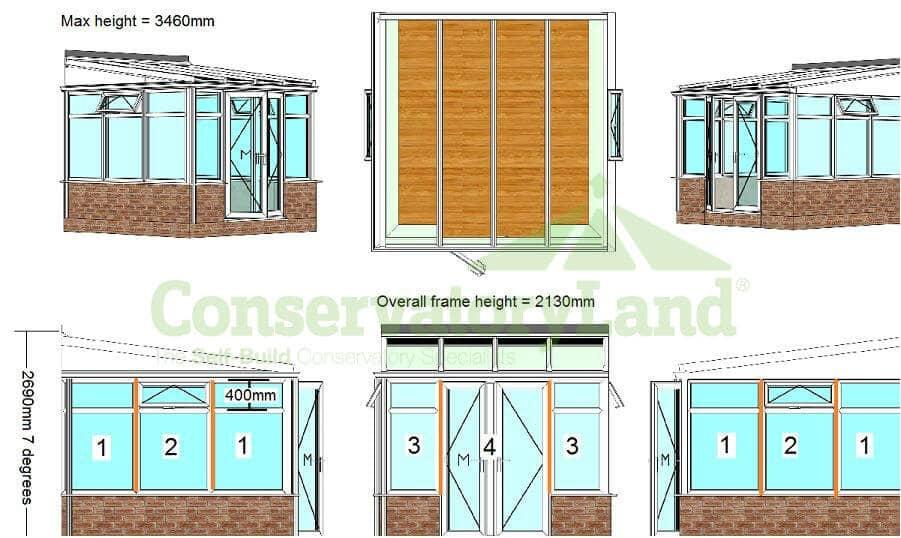 DIY Lean to extension kit Basic CAD