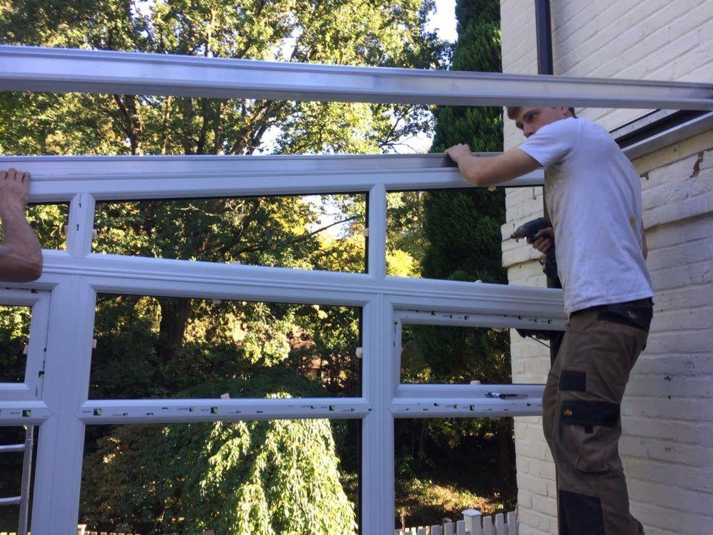 conservatory installer building a conservatory frames