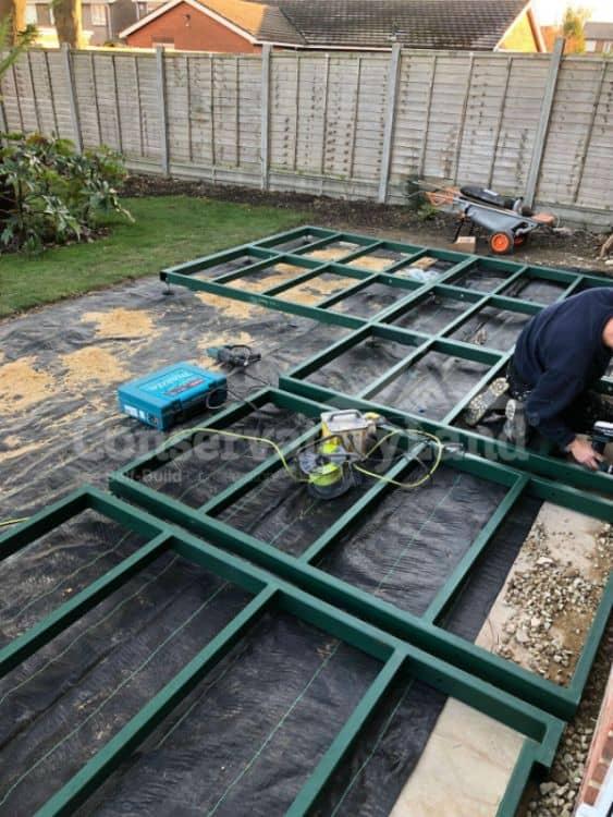 Mr Jobling DIY Orangery - conservabase construction