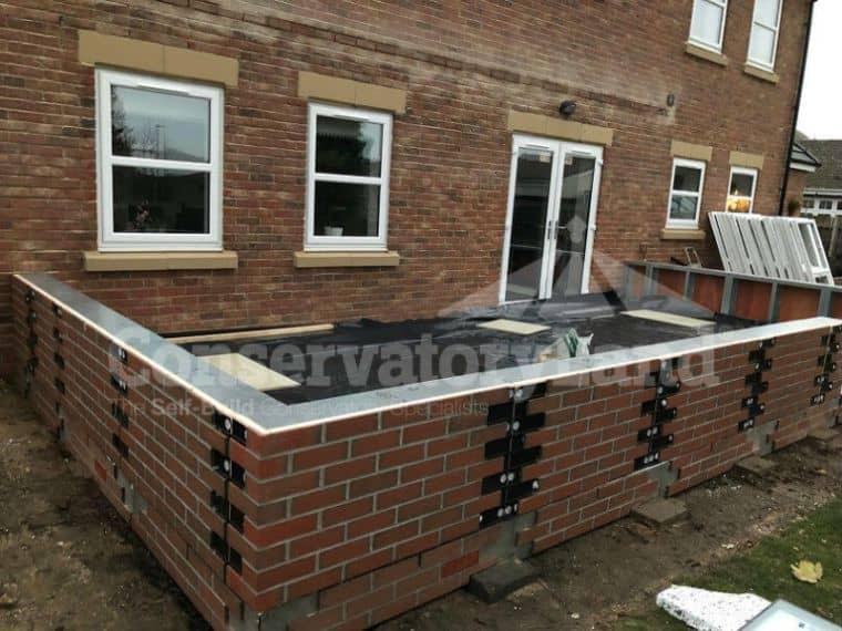 Mr Jobling DIY Orangery - dwarf wall construction