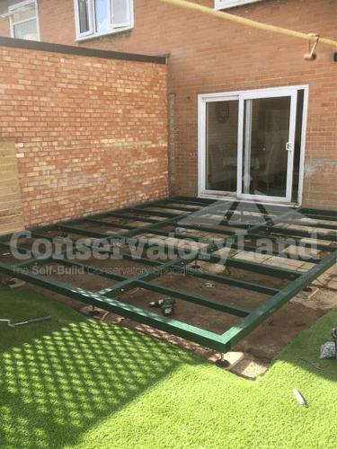 Adding a conservatory base frame