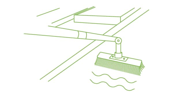 cleaning a conservatory roof illustration