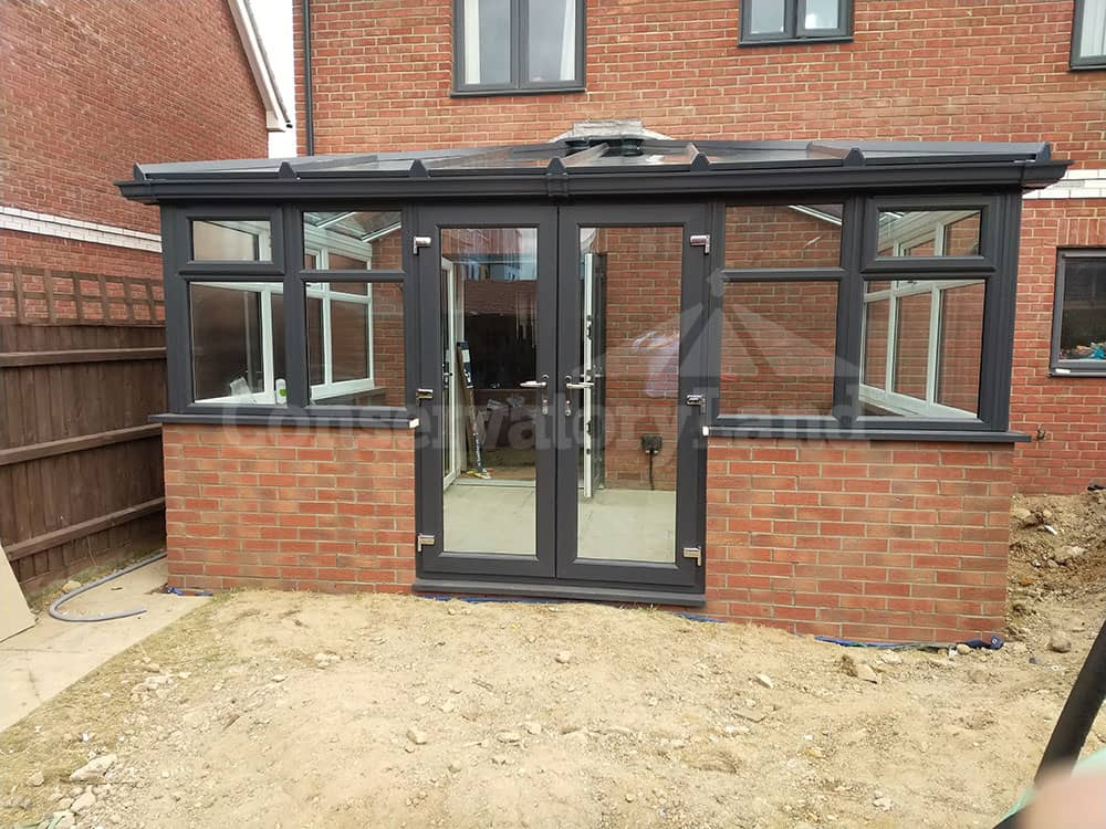 new hipped lean to conservatory