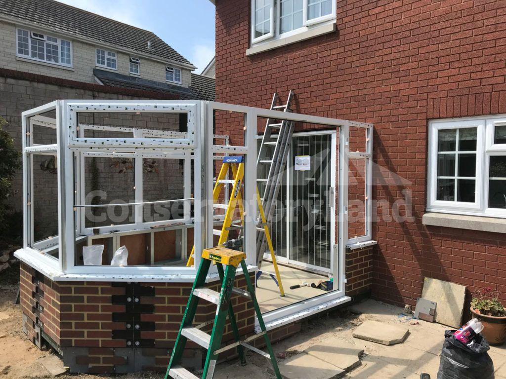 white PVCu conservatory frames
