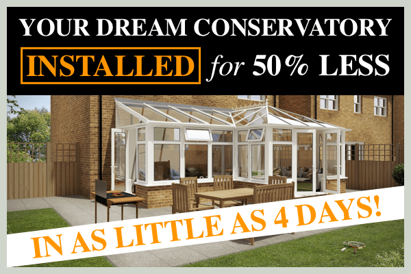 Costs about HALF of a traditional conservatory build - Find out more