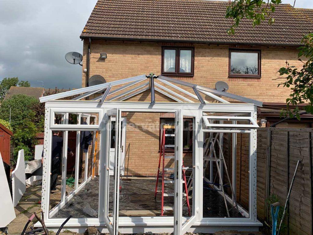 conservatory frame installation