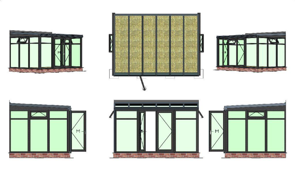 bespoke lean to dark grey conservatory