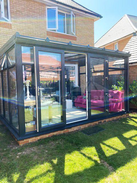 bespoke dark grey conservatory