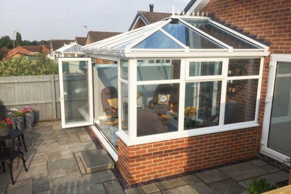 white frame edwardian conservatory