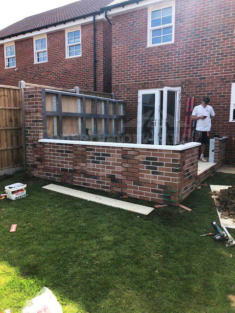 edwardian conservatory wall build progress