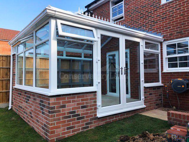 finished modern edwardian style conservatory