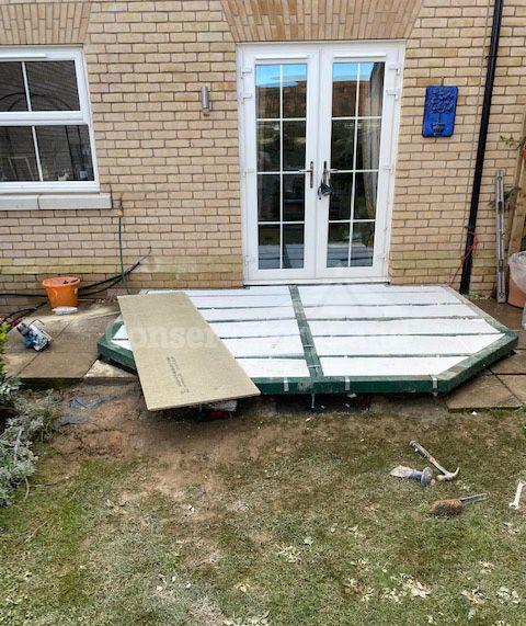 conservatory base foundation installation