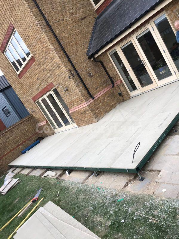Conservatory base flooring installation