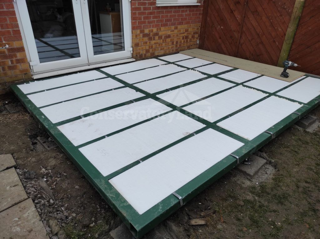 conservatory base installation