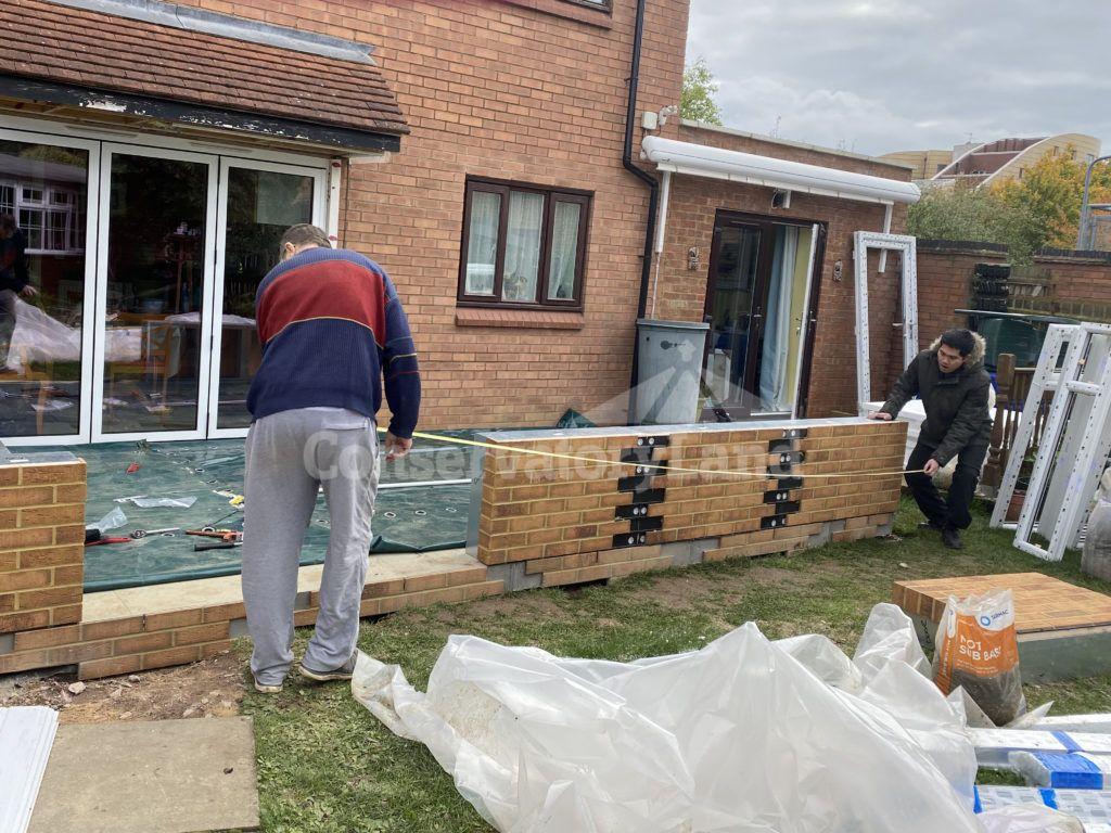 conservatory dwarf brick wall