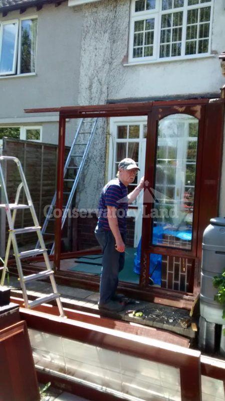 dismantle conservatory process